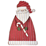 galvanized metal santa porch sitter