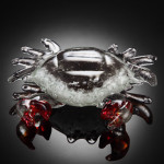 Art Glass Crab Figurine Nautical Home Decororating Accent