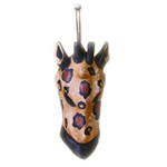 small abstract giraffe mask