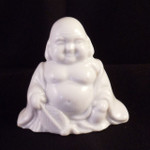 Happy Buddha Figurine Small Statue Vintage Porcelain
