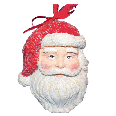 hallmark santa face ornament