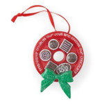 chocolate lover holiday ornament wreath