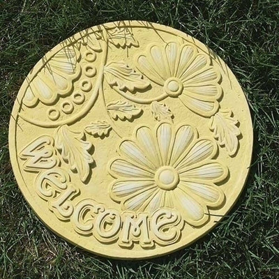 welcome garden stepping stone