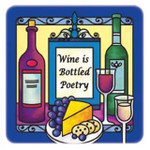 wine bottled poetry magnet