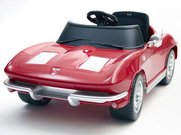 Kids 63 Corvette Battery Power Car red