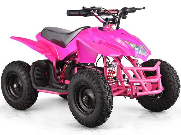 Moto Tec V5 Kids Mini Quad Pink