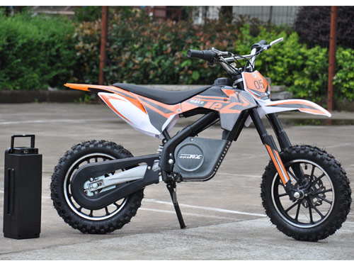 moto tec dirt bike has larg batteries