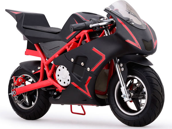 MotoTec pocket bike red
