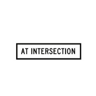 At Intersection Sign - (1200mmx300mm) - Corflute