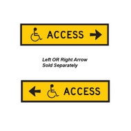 Accessible Path Sign -  Left OR Right Arrow- (1200mmx300mm) - Corflute