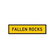 Fallen Rocks Sign - (1200mmx300mm) - Corflute