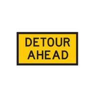 Detour Ahead Sign - 3 Sizes - Corflute