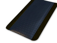 Anti-Fatigue Mat Diamond Plate Sponge 900mm X 1500mm - Black border