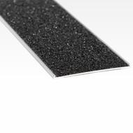 Aluminium w/ Black Carborundum Insert 54mmx2.5mm Stair Nosing - Per Metre