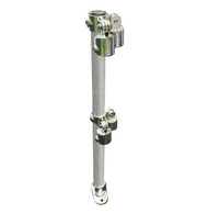 Ezyrail - Variable Corner (Galvanised - Vertical) Stanchion w/ Base Fixing Plate