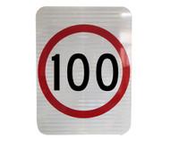 100km Speed Restriction Sign (450mm x 600mm) - Class 1 Reflective Aluminium