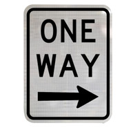One Way Sign with Right Arrow (450mm x 600mm) - Class 2 Reflective