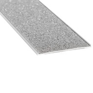 Aluminium w/ Grey Carborundum Insert 54mmx2.5mm Stair Nosing - Per Metre