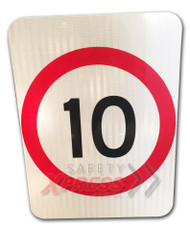 10KM Speed Restriction Sign