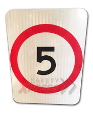 5km Speed Restriction Sign