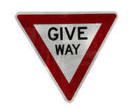 Give Way Sign (950mm) Triangular - Class 1 Reflective Aluminium