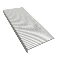 Natural Securatread Corrugated Aluminium Stair Nosing - Per Metre