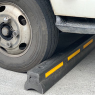 Truck Wheel Stop - Solid Recycled Plastic - 5 Year warranty