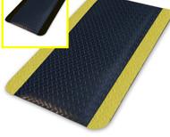 Anti-Fatigue Mat Diamond Plate Sponge - 600mmX 900mm - Black OR Yellow Border