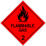 HAZCHEM Flammable Gas (270MM) Diamond - Metal