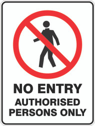 NO ENTRY AUTH. PERSONS (600x450mm) - Metal