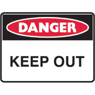 DANGER KEEP OUT (600x450mm) - Metal