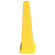Four Sided Yellow Safety Cone Blank - 890MM High