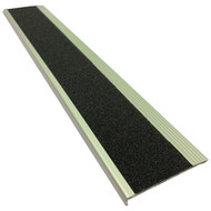 Aluminium w/ Black Super Anti Slip Insert 75MMx10MM Stair Nosing - Per Metre
