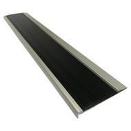 Aluminium w/ Black Rubber Insert 75MMx10MM Stair Nosing - Per Metre