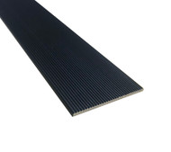 Black Corrugated Aluminium 50mm Flat Stair Tread - Per Metre