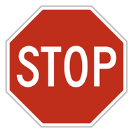 Stop Sign - Aluminium 600mm