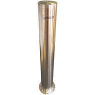 Surface Mount 140mm x 1200mm Stainless Steel Bollard - 316 Grade
