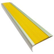 Aluminium w/ Yellow Rubber Insert 75MMx30MM Stair Nosing - Per Metre