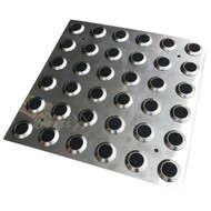 316 Stainless Steel Integrated Tactile Plate with Carborundum Insert  300 x 300