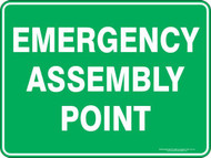 Emergency Assembly Point Sign (450x600MM) - Metal