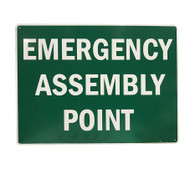 Emergency Assembly Point Sign (450mm x 600mm) - Metal