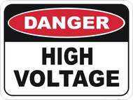 "Danger Sign ""HIGH VOLTAGE"" (450x600MM) - Class 1 Reflective Aluminium"