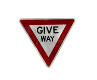 Give Way Sign (750mm) Triangular - Class 1 Reflective Aluminium