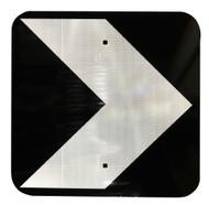 Unidirectional Hazard Marker Sign (450X450MM) - Class 1 Reflective Aluminium