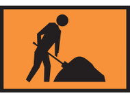 Workers Ahead Sign (450x600MM) - Metal