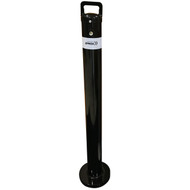 Removable 90mm x  1000mm Surface Mount Twist Type Bollard - Keyed Alike Black