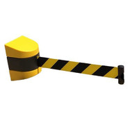 Magnetic Wall Mounted Retractable Safety Barrier - 9 Metre