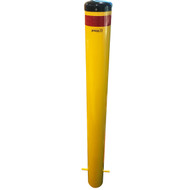 Below Ground 140MM Bollard w/ Black Cap