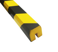 Foam Impact Protection Edge Strip - Self Adhesive Back - Barn Profile - Push Fit