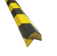 Foam Impact Protection Edge Strip- Self Adhesive Back- Barn profile with Triangular Cut